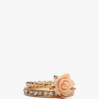 Carved Rose Ring Set | FOREVER21 - 1011409062
