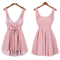 Pink Cute Backless Fashion Dress