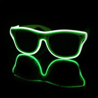 EL Wire Light Up Sunglasses