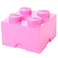 LEGO Storage Bin Brick Stackable Pink