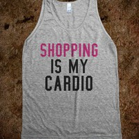 Shopping is my cardio - Happy Friday - Skreened T-shirts, Organic Shirts, Hoodies, Kids Tees, Baby One-Pieces and Tote Bags