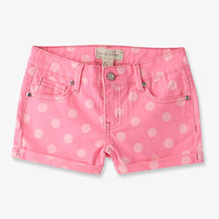 Rhinestoned Polka Dot Denim Shorts | FOREVER 21 - 2048455624