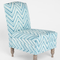 Chevron Slipper Chair
