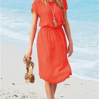 Buy Coral Split Sleeve Dress from the Next UK online shop