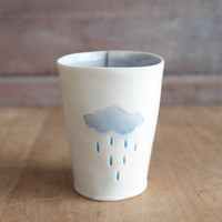 rain cloud shot glass