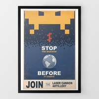 Space Invaders Propaganda Print at Firebox.com