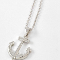 Anchor Necklace Silver | Bellum&Rogue