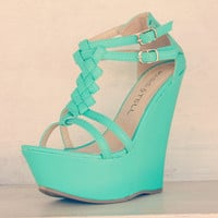 Turquoise Braided Wedge | Bellum&Rogue