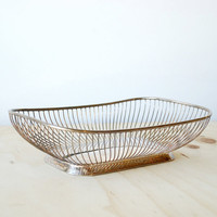 Mid Century Silver Basket - Vintage Bread Basket MCM