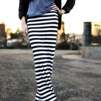 Maxi  skirt, everyday skirt, pencil skirt stripes
