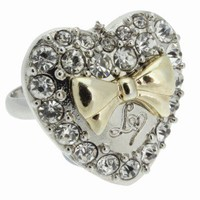 Lipsy Heart And Bow Ring