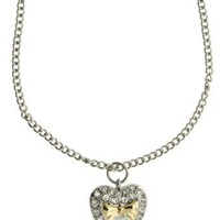 Lipsy Bow Heart Necklace