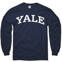 Yale Bulldogs Navy Arch Long Sleeve T-Shirt