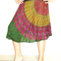 Indian Print Wrap Skirt