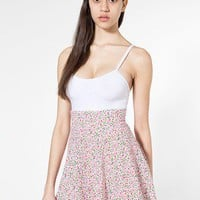 American Apparel - Floral Printed Cotton Spandex Jersey High-Waist Skirt