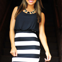 All The Right Places Dress: Black | Hope&#x27;s