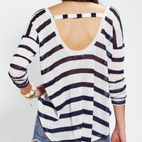 Sparkle & Fade Long-Sleeve High/Low Stripe Tee