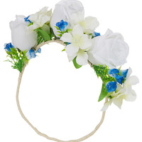 Oversize White Garland - Hair Accessories - Bags &amp; Accessories - Topshop USA