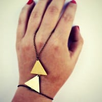 double triangle slave bracelet