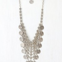 Free People Flower Chainmail and Coin Collar