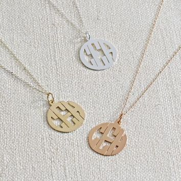 Monogram Pendant Necklace - Sans-serif