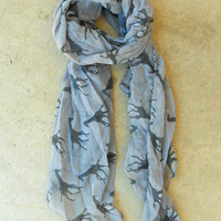 Galloping Giraffe Scarf in Gray [3640] - $16.00 : Vintage Inspired Clothing & Affordable Fall Frocks, deloom | Modern. Vintage. Crafted.