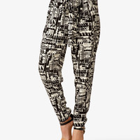 High-Waisted Geo Print Pants | FOREVER21 - 2024770075