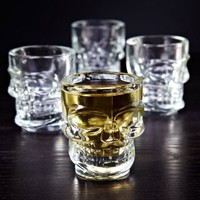 Skulls of Doom Shot Glasses, Set of 4