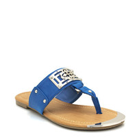 metallic-accent-sandals BLACK BLUE CREAM - GoJane.com