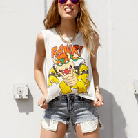 Bowser Rawr Muscle Tee