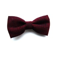 Tiny Maroon Bow