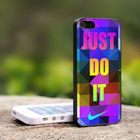 Nike Just Do It Triangels - For iPhone 5 Black Case Cover