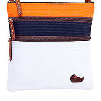 Dooney &amp; Bourke Tri-Color Nylon Triple Zip Crossbody