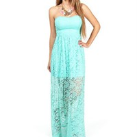 Mint Lace Maxi Dress