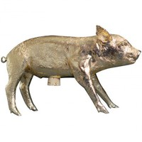 Bank in the Form of a Pig, Gold - Sale