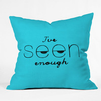 DENY Designs Home Accessories | Nick Nelson Ive Seen Enough 2 Throw Pillow