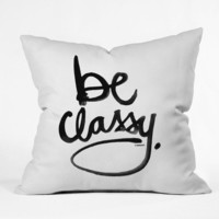 DENY Designs Home Accessories | Kal Barteski Be Classy Throw Pillow