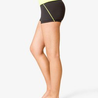 Contrast Waist Workout Shorts | FOREVER 21 - 2046363468