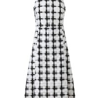 MARNI | Checked Cotton and Organza Dress | Browns fashion &amp; designer clothes &amp; clothing