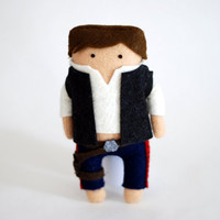 Star Wars Han Solo Felt Ooak .14cm.
