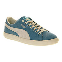 Puma ARCHIVE LITE LOW WASHED CANVAS HAWAIIAN OCEAN WHISPER WHITE Shoes - Puma Trainers - Office Shoes
