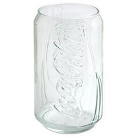 12oz. Clear Coca-Cola Can Glass
