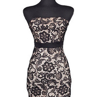 Now & Forever Strapless Lace Dress - Black -  $59.00 | Daily Chic Dresses | International Shipping