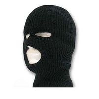 Ski Mask / Tri Hole - Black