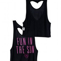 Heart Back Tank - PINK - Victoria's Secret
