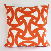Orange Geometric Pillow Cover,  Design, 18x18