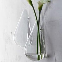 CB2 - wall mounted teardrop vase