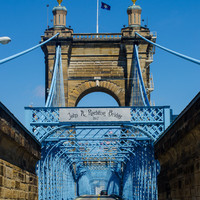 Roebling Bridge, Cincinnati, 8 x 10 Fine Art Photography, Photo Art Print