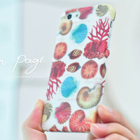 Apple iphone case for iphone iPhone 5 iphone 4 iphone 4s iphone 3Gs : Colorful Seashell