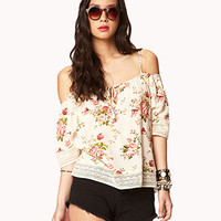 Off-The-Shoulder Rose Top